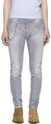 DSQUARED2 Grey Skater Jeans