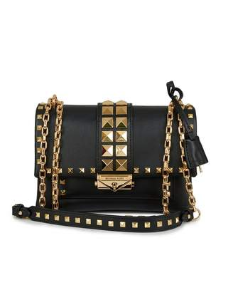 Michael Kors Cece Pyramid Studs Chain Shoulder Bag Colour: BLACK, Size