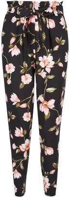 Dorothy Perkins Womens Petite Black Floral Print Joggers