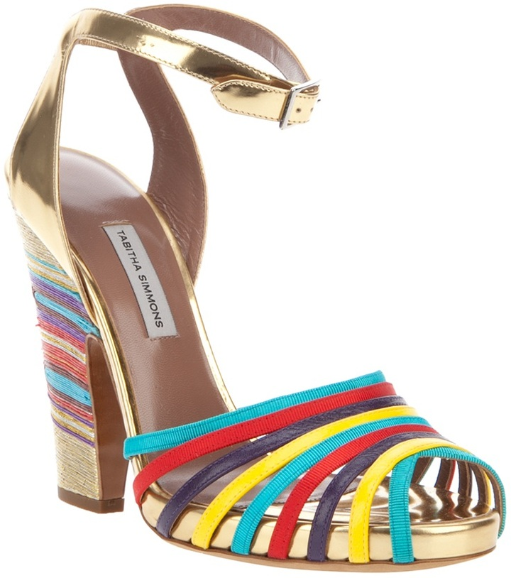 Tabitha Simmons stripe sandal