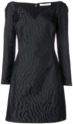 Givenchy geometric neckline mini dress