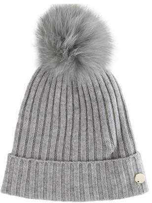 Yves Salomon Fox Fur Pom-Pom Hat w/ Tags