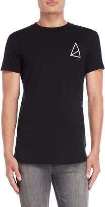 Golden Equation Black Scooped Hem Tee