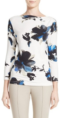 Women's St. John Collection Painted Oleander Jersey Tee $295 thestylecure.com
