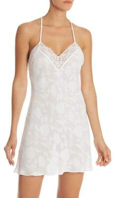 In Bloom Lace-Trimmed Floral Chemise