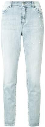 Marc Cain faux-pearl embellished jeans