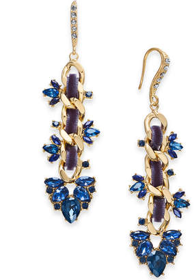 INC International Concepts I.N.C. Gold-Tone Stone & Crystal Link Drop Earrings, Created for Macy's