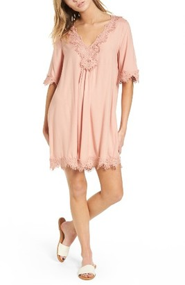 Women's Hinge Lace Trim Shift Dress $79 thestylecure.com