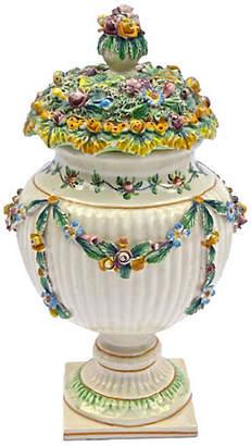 One Kings Lane Vintage Antique Italian Floral & Fruit Urn