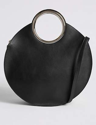 M&S Collection Faux Leather Circle Handle Cross Body Bag