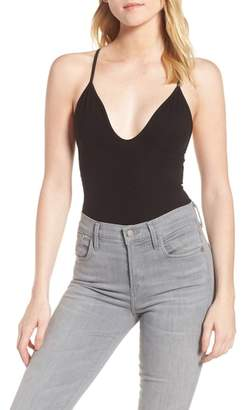 Frank And Eileen Racerback Plunge Bodysuit