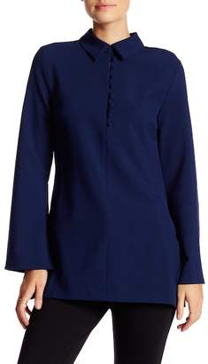 Romeo & Juliet Couture Solid Long Sleeve Blouse
