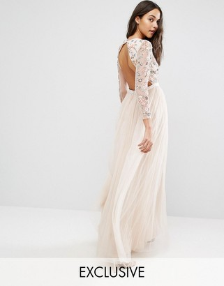 Needle & Thread Ditsy Scatter Tulle Gown $339 thestylecure.com