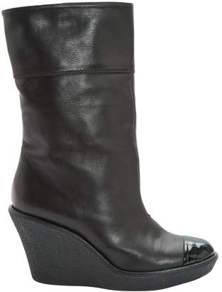 Sonia Rykiel Black Leather Ankle boots
