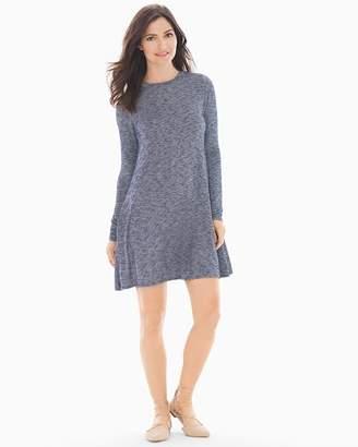 Elan International Long Sleeve Tee Shirt Short Dress Indigo