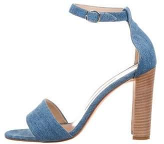 Manolo Blahnik Denim High-Heel Sandals