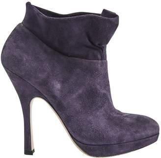 Prada Purple Velvet Ankle boots