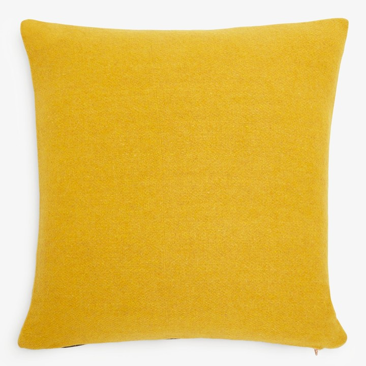 Symmetry Wool Pillow Golden Yellow