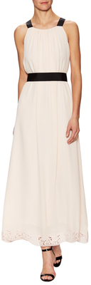 Kate Spade Silk Embroidered Maxi Dress