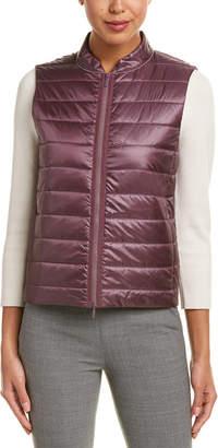 Lafayette 148 New York Elara Silk-Trim Vest