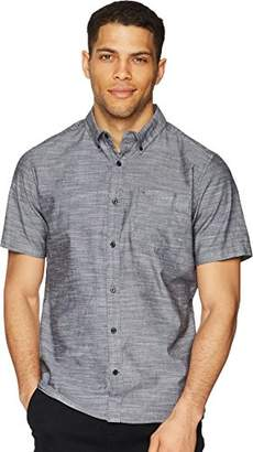 Hurley Men's One & Only Textured Short Sleeve Button Up