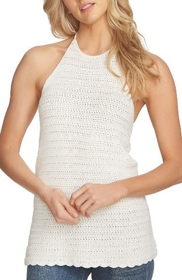 Women's 1.state Crochet Halter Top $79 thestylecure.com