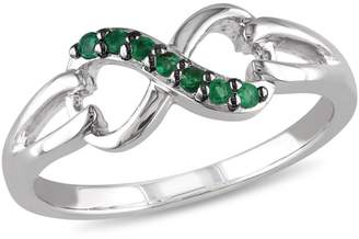 Concerto Emerald Sterling Silver Infinity Ring