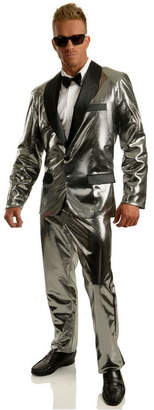 BuySeasons Men Disco Ball Silver Tuxedo Set With Pants