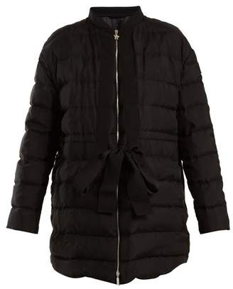 Moncler Gamme Rouge Ramasse Silk Quilted Down Jacket - Womens - Black