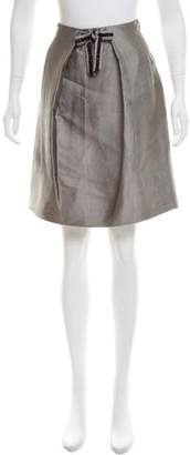 J. Mendel Embellished Knee-Length Skirt