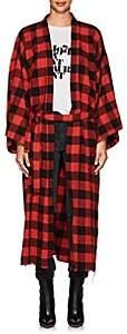 NSF Women's Hannah Checked Cotton Robe Coat - Red