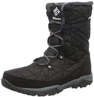 Columbia Women's Loveland MID Omni-Heat High Rise Hiking Boots (Black, Sea Salt 010), (40.5 EU)