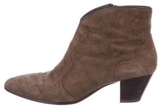 Ash Suede Pointed-Toe Booties
