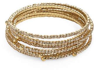 ABS by Allen Schwartz Seven-Piece Coil Pave Bracelet Set