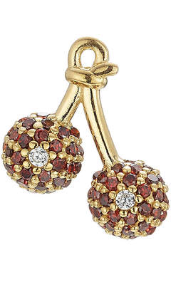 At Stylebop Marc Jacobs Embellished Sterling Silver Cherry Stud