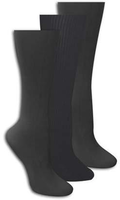 Muk Luks Microfiber Trouser Socks 3-Pack, Grey
