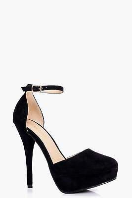 boohoo NEW Womens Close Round Toe Platform Heels in