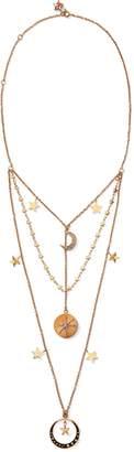 Ralph Lauren Three-Tier Charm Necklace