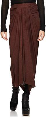 Rick Owens Women's Draped Jersey Midi-Skirt
