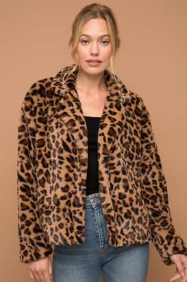 Hem & Thread Leopard Fur Jacket
