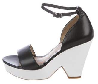 Reiss Leather Colorblock Sandals