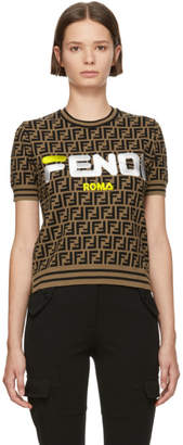 Fendi Brown Forever Crewneck Sweater