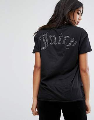Juicy Couture (ジューシー クチュール) - Juicy Couture Hi Lo T-Shirt with Back logo