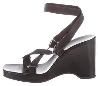 Gucci Crossover Wedge Sandals