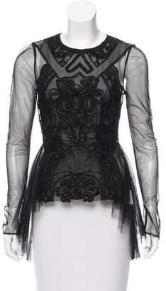 Thurley Embellished Long Sleeve Top