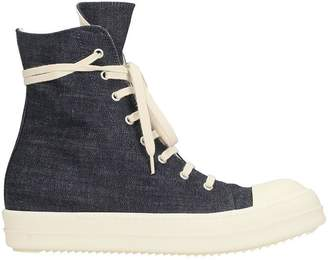 Drkshdw Ramones Blue Denim Sneakers