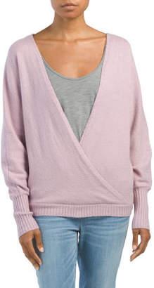 Juniors Wrap Sweater