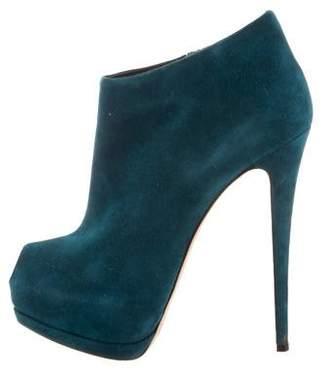 Giuseppe Zanotti Suede Platform Ankle Boots