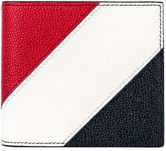 Thom Browne Billfold Wallet in Navy   FWRD
