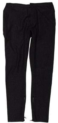 Lanvin Zip-Accented Wool Pants